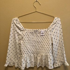 TAGS ON! American Eagle Polka Dot Crop Top Size M